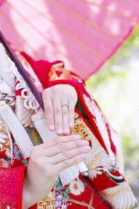 和装前撮りロケーションフォト花嫁の指先