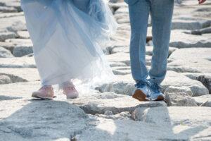 おすすめのりんくうビーチフォトロケーション前撮りポーズン
