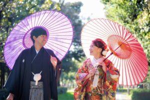 名古屋の人気格安和装前撮りロケーションフォトウェディング