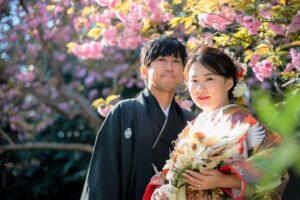 名古屋の人気格安和装前撮りロケーションフォトウェディング和装ブーケ
