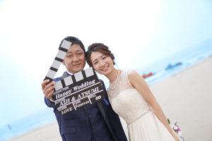 洋装人気の前撮りアイテムロケーションフォトウェディング名古屋海