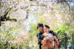 人気の庄内緑地で桜ロケーションフォトおしゃれで安い
