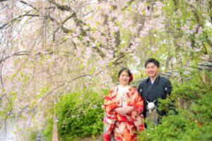 名城公園で人気のロケーションフォト前撮り和装