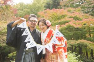 名古屋の人気ロケーションフォトロケ地東山でおしゃれな和装前撮りガーランド