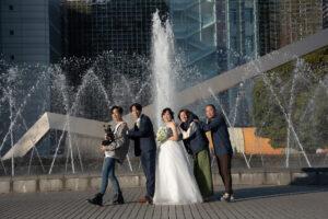 名古屋ので人気の格安洋装ロケーションフォトウェディング前撮り家族写真無料