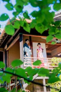 名古屋で人気の東山荘の茶室で格安前撮り和装ロケーションフォトウェディング