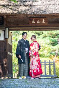 名古屋で人気の東山荘で格安前撮り和装ロケーションフォトウェディング