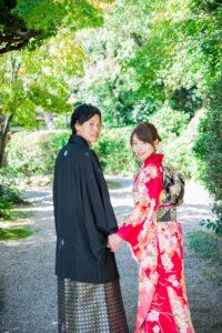 名古屋で人気の格安前撮り和装ロケーションフォトウェディング