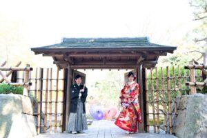 名古屋の格安前撮り和装ロケーションフォトウェディングポーズ