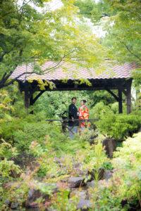 久屋大通庭園フラリエで緑いっぱい和装色打掛で前撮り