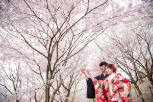 名古屋の安く撮影できるロケーション前撮りポーズ