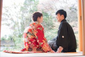 名古屋で安い和装前撮りロケーションフォト茶室