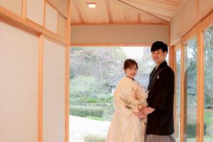 名古屋東山植物園内の宗節庵で和装のおしゃれ格安前撮り