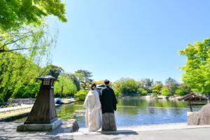 白無垢で和装ロケーション前撮りが名古屋で安い