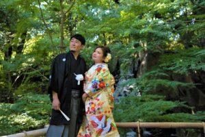 徳川園で和装ロケーション前撮り