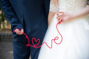 名古屋洋装ドレス前撮りアイテム赤い糸