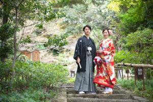 名古屋の安い前撮りロケーションフォトウェディング人気の徳川園