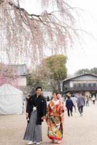 名古屋城のロケーションフォト前撮り和装が安い