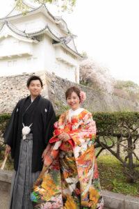 おすすめの名古屋城で和装前撮りロケーションフォトウェディング
